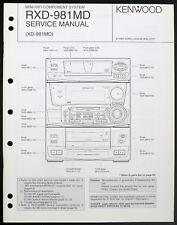 KENWOOD RXD-981MD Original HiFi System Service-Manual/Diagram/Partslist o200