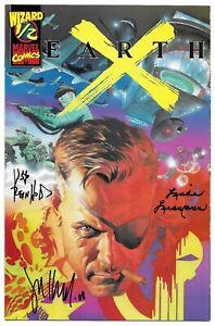 Earth X 1/2 Signed by 3 Jim Krueger Bill Reinhold Autographed Marvel Alex Ross