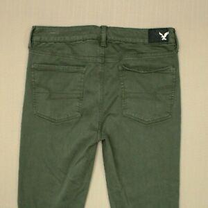 American Eagle Super Stretch Hi Rise Jegging Jeans Women's Size 8 Green Sateen