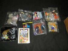9 Disney McDonalds Toys Sealed Mulan Aladdin Hunchback Mickey & Friends DL 50th+