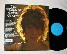 DAVID BOWIE--THE WORLD OF DAVID BOWIE--MEGA RARE ORIG 1970 LP--DECCA ENGLAND