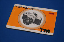 Soligor TM Instruction Book  (H)