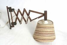 FORBICI Lampada Teak 60er 70er design VECCHIA LAMPADA MURO LEGNO