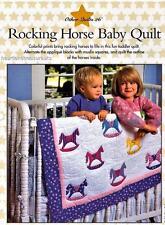 Rocking Horse Baby Quilt   Applique &  Pieced Quilt Pattern