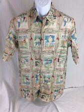 Reyn Spooner Collection Vtg Early Century Golfers Golf Shirt SZ M Made In Hawaii