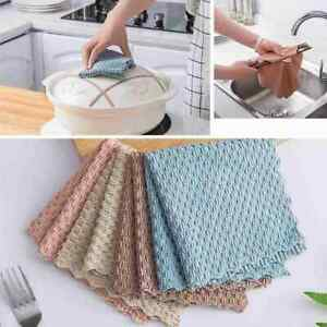 Super Absorbent Microfiber Kitchen Cloth Dish Cleaning Towel Household