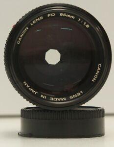 Canon 85mm f/1.8 FD Mount Lens