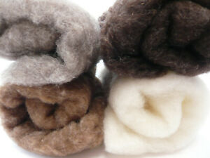Heidifeathers® Carded British Wool Batts, Soft Felting Core Wool, Natural Cloud