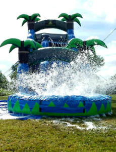 60x20x25 Commercial Inflatable Water Slide Bounce House Obstacle Course Combo