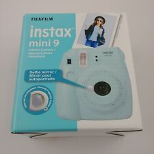 Fujifilm Instax Mini 9 Ice Blue Instant Camera Polaroid Selfie Mirror Automatic