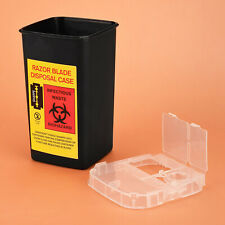 Plastic Sharps Containers Biohazard Needles Disposal Waste Box Tattoo Supplies