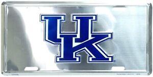 Kentucky Wildcats NCAA Silver Mirror License Plate