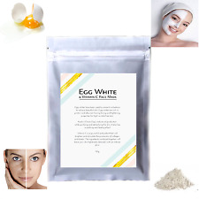 Egg White Face Mask & Vitamin C Pore Shrink Wash Off Brightens Cleans Skin Food