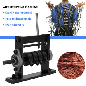 UK Portable Wire Stripping Machine Scrap Cable Peeling Machines Stripper 1-30mm