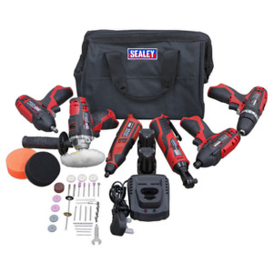 CP1200 Series 6 x 12V Cordless Power Tool Combo Kit SEALEY CP1200COMBO2 by Seale