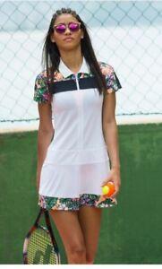 Sweaty Betty Volley Tennis Dress Flower Print size S NEW