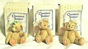 CHERISHED TEDDIES SET OF THREE SISTERS BEARS JACKI, KAREN, SARA  #950432,1991