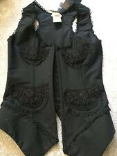 Luxury Black Designer Corset by WORTH - Size 34B