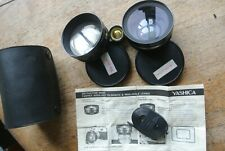Yashica Y407 Wide & Tele converters for Electro G Series VERY NICE