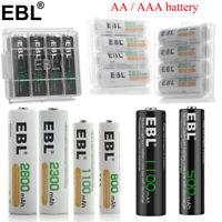 Lot 4-20pcs AA AAA 800mAh 1100mAh 2300 2800mAh Rechargeable Batteries NIMH NiCd