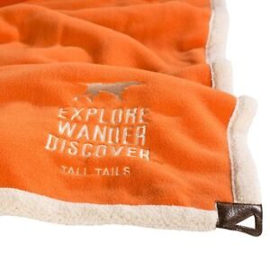"Tall Tails PREMIUM DOG BLANKET Fleece Throw 40"" x 60"" Explorer Orange"
