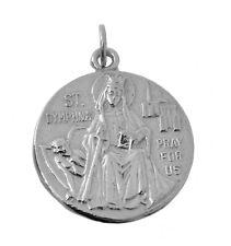 WOW St. Saint Dymphna patron mental Anxiety Depression Bipolar Sterling Silver c
