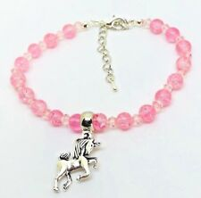 Girls Pink sparkly Unicorn Bracelet party bags gift girly gift birthday present