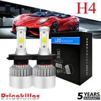 2x H4 CREE LED Headlight Conversion Kit Bulbs HB2 120W 380000LM 6000K Hi/Lo Beam