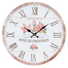 Clayre&Eef VINTAGE Horloge Murale Nostalgie Montre style maison de campagne rose