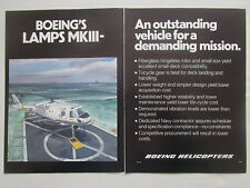 6/1977 PUB BOEING HELICOPTER LAMPS MKIII US NAVY ASW HELICOPTERE ORIGINAL AD