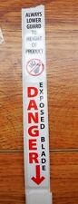 SAW BLADE GUARD SAFETY DECAL FITS ALL BIRO & HOBART MODEL SAWS