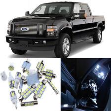 9pcs White Interor LED Light Package Kit for Ford Super Duty 1999-2010