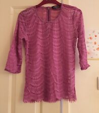 M&S Boho Pink Lace Top, Size 10 - Stunning!