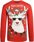 SSLR Men's Holiday Reindeer Pullover Crew Neck Ugly Christmas Sweater