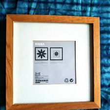 Glass Fronted - Ikea - Wooden Frame Ribba Photo / Picture Frame (23x23cm)
