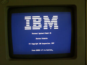 Vintage IBM Personal System 2 PS/2 Computer Model 25 Type 8525 Color Display!