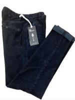 Dondup Pantalone Uomo Mod. UP235 GAUBERT, VELLUTO, BLU , Nuovo e Originale -50%