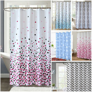 Extra Long Shower Curtain Waterproof Polyester Fabric Bathroom Shower Curtains