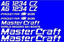 MasterCraft Prostar 205 Full set #4 w/Matching Boat Registration Numbers