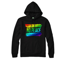 Anti Racism Hoodie, No Justice No Peace Black Lives Matter Gift Top