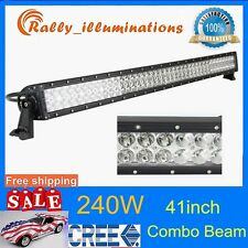 41inch 240W Cree Led Light Bar F/S Combo 20000LM Offroad SUV ATV Truck RALLY