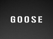 GOOSE (Top Gun) Funny Car Bumper/Window Sticker Vinyl Decal