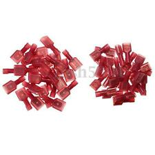 100pcs Red Female & Male Insulated Wire Terminal Connector 22-18 AWG Gauge