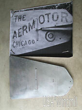 Chicago Aermotor Windmill Vane for 6ft X702 & X602 w/ logo layout, X31 + layout