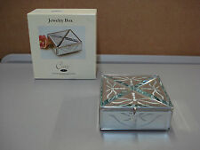 "NIB Carr Vintage Etched Glass Jewelry Box 5""x5"" Burnes Of Boston Family  #5C"