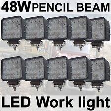 10X 48W LED Work Light Spot Pencil Driving Lamp 12V 24V off road Truck 4WD UTE