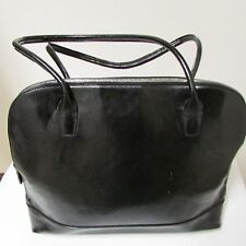 Franklin Covey Black Leather Large Briefcase Laptop Bag