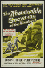 The abominable snowman Peter Cushing movie poster print