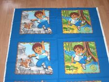 "4 Go, Deigo, Go!  Pillow Fabric Panels- 16"" x 16""- 100% Cotton- 1 yard"