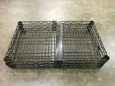 "14"" x 24"" Industrial Black Metro Wire Storage Shelving Shelf Heavy Duty (3)"